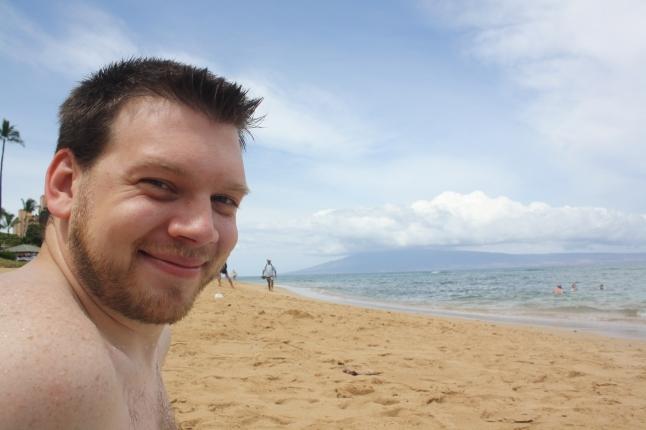 Jon on the beach