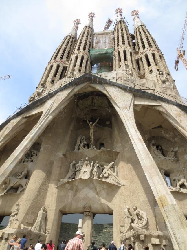 The entrance to La Sagrada Família